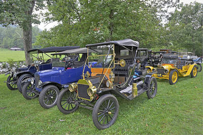 Photograph - Antique Vehicles by Willie Harper