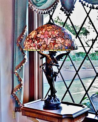 Photograph - Antique Victorian Lamp At The Boardwalk Plaza - Rehoboth Beach Delaware by Kim Bemis