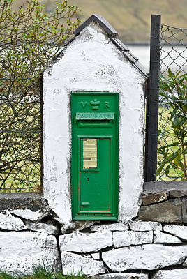 Photograph - Antique Victorian Mail Box In Ireland by Jane McIlroy