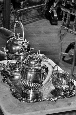 Photograph - Antique Victorian Tea Service In The Boardwalk Plaza Lobby - Rehoboth Beach Delaware by Kim Bemis