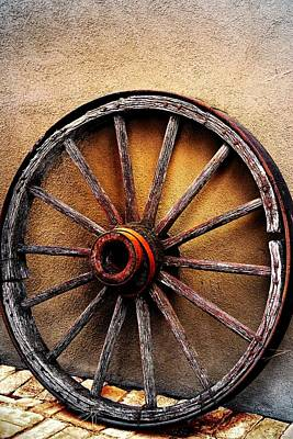 Wagon Wheel Print by Barbara Chichester