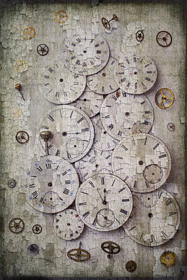 Antique Watch Faces Art Print by Garry Gay