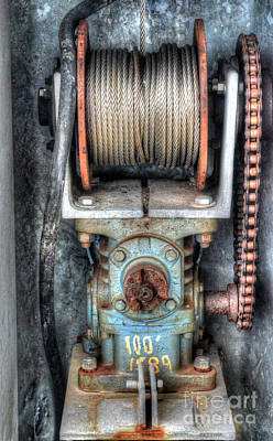 Photograph - Antique Winch by Dale Powell