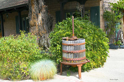 Antique Wine Press 2 Art Print by Floyd Snyder