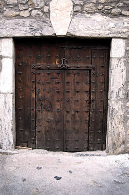 Stone Photograph - Antique Wood Door by Gina Dsgn