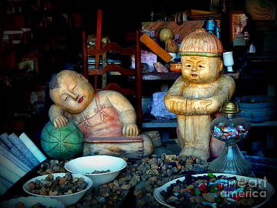 Photograph - Antique Wooden Dolls 3 by Renee Trenholm
