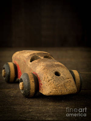 Toy Car Photograph - Antique Wooden Toy Car by Edward Fielding