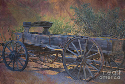 Antique Wooden Wagon Print by Beverly Guilliams