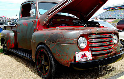Photograph - Antiqued Ford Pickup by Mark Spearman