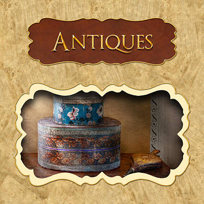 Photograph - Antiques Button by Mike Savad