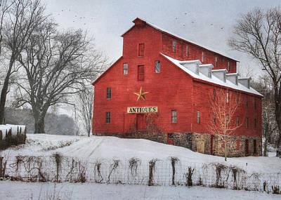 Barn Digital Art - Antiques by Lori Deiter