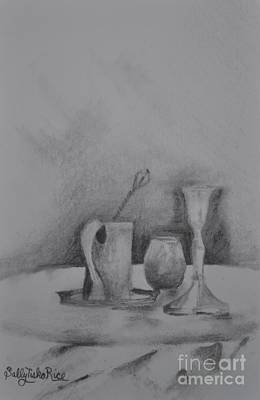 Antique Vessel Drawing - Antiques by Sally Rice