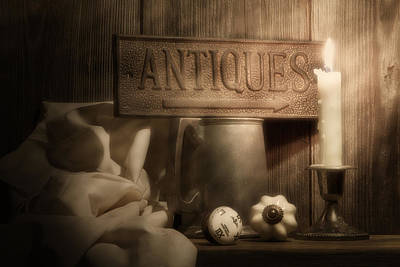Candle Stand Photograph - Antiques Still Life by Tom Mc Nemar