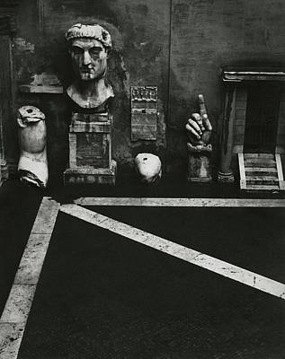Antique Photograph - Antiquities At Capitoline Museum by Robert Randall