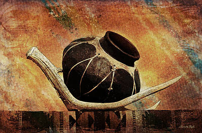 Antler And Olla Art Print by Karen Slagle