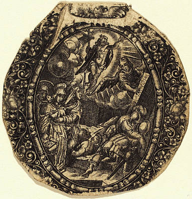 Resurrection Drawing - Antoine Jacquard, French Died 1652, The Resurrection by Litz Collection