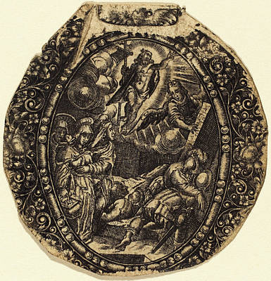 Resurrection Drawing - Antoine Jacquard French, Died 1652, The Resurrection by Quint Lox