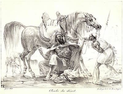 1835 Drawing - Antoine-jean Gros French, 1771 - 1835. Arab Of The Desert by Litz Collection