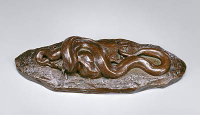Python Drawing - Antoine-louis Barye, Python Swallowing A Doe by Quint Lox