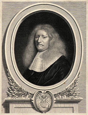 1636 Drawing - Antoine Masson French, 1636 - 1700 After Nicholas Mignard by Litz Collection