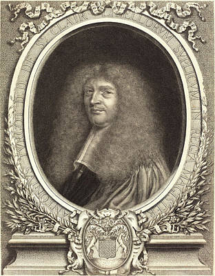 1636 Drawing - Antoine Masson, French 1636-1700, Antoine Turgot by Litz Collection