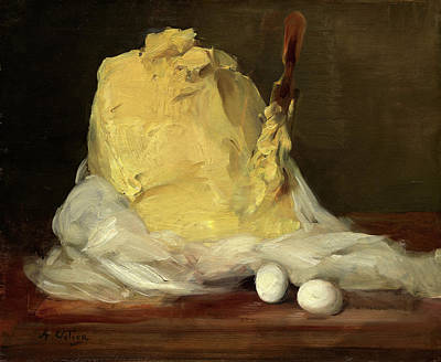 1833 Painting - Antoine Vollon French, 1833 - 1900, Mound Of Butter by Quint Lox