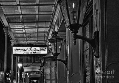Photograph - Antoine's Restaurant New Orleans Monochrome by Kathleen K Parker