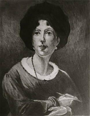 Drawing - Antoinette Cecile Hortense Haudebourt-lescot by Bruce Ben Pope