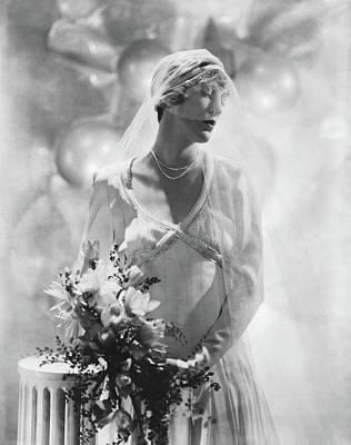Photograph - Antoinette Frissell In Her Wedding Dress by Horst P. Horst
