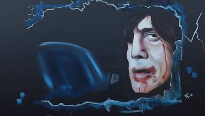 Painting - Anton Chigurh No Country For Old Men by Matt Burke