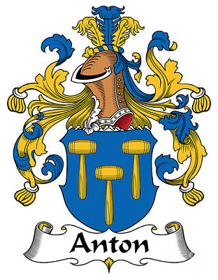Anton Digital Art - Anton Coat Of Arms German by Heraldry
