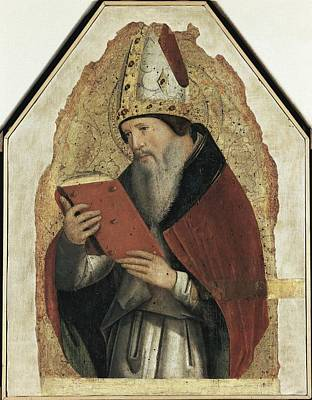 Antonello Da Messina. Saint Augustin Art Print