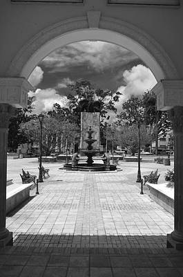 Photograph - Antonio R Barcelo Plaza B W 7 by Ricardo J Ruiz de Porras