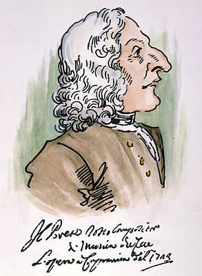 Autographed Drawing - Antonio Vivaldi (1678-1741) by Granger