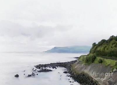 Irish Country Scenes Digital Art - Antrim Coast by Joe Lynch