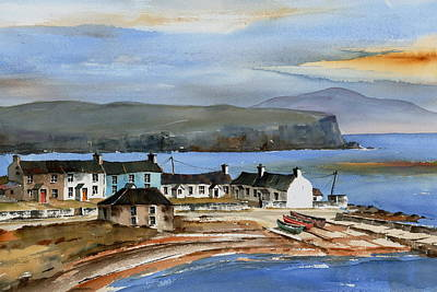 Mixed Media - Antrim Rathlin Island by Val Byrne