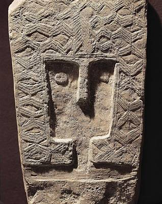 Stela Photograph - Antropomorphic Stela. Chalcolithic by Everett
