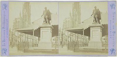 Antwerpen Drawing - Antwerp Anvers Antwerpen, The Rubens Statue On The Place by Artokoloro