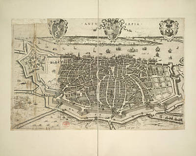 Cartography Photograph - Antwerp by British Library