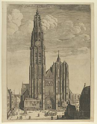 Czech Republic Drawing - Antwerp Cathedral Prospectvs Tvrris by Wenceslaus Hollar
