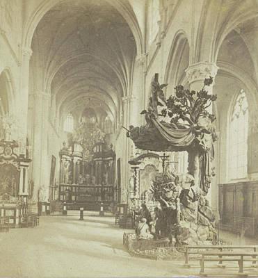 Indoor Drawing - Antwerp, Church Of Saint-andre, Indoor General View by Artokoloro