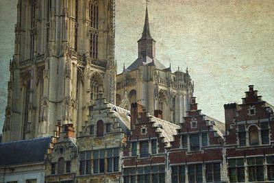 Antwerp Skyline Art Print by Joan Carroll