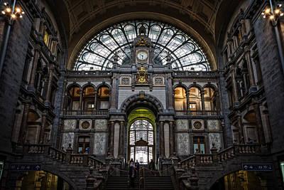 City Hall Photograph - Antwerp Train Station II by Joan Carroll