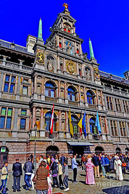 Photograph - Antwerp's City Hall by Elvis Vaughn