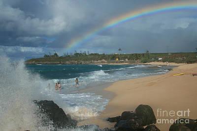 Photograph - Anuenue - Aloha Mai E Hookipa Beach Maui Hawaii by Sharon Mau