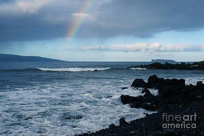 Anuenue - Rainbow Over  Alalakeiki Channel Kihei Maui Hawaii Art Print by Sharon Mau