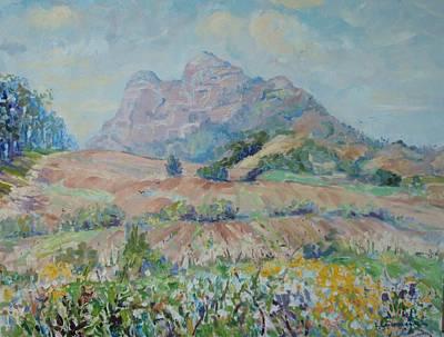 Winelands Painting - Anura Vineyards In Spring 3 by Elinor Fletcher