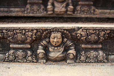 Sri Lanka Photograph - Anuradhapura Carving by Jane Rix