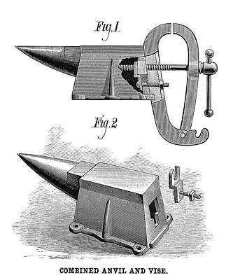 Anvil Painting - Anvil And Vise, 1881 by Granger