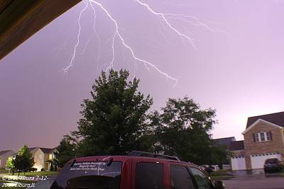 Lightning Photograph - Anvil Crawler by Bradley Hruza